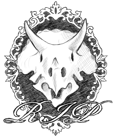 Triceratops Tattoo Design by Brittany-Purcell