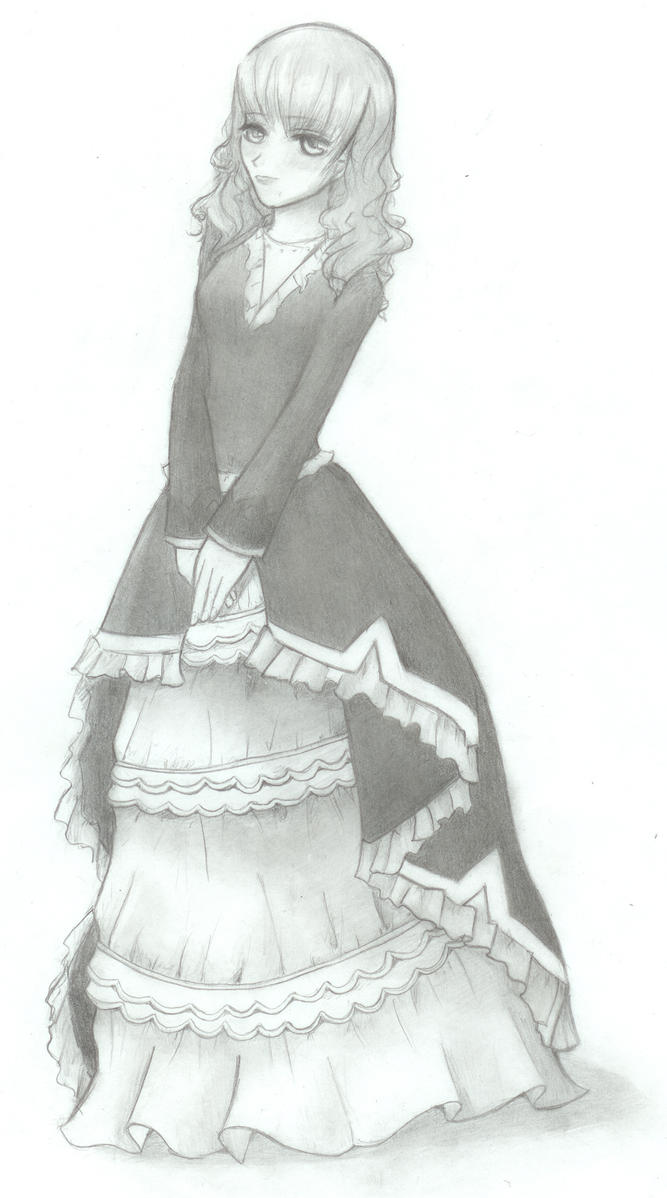 anime victorian dresses drawings dress images