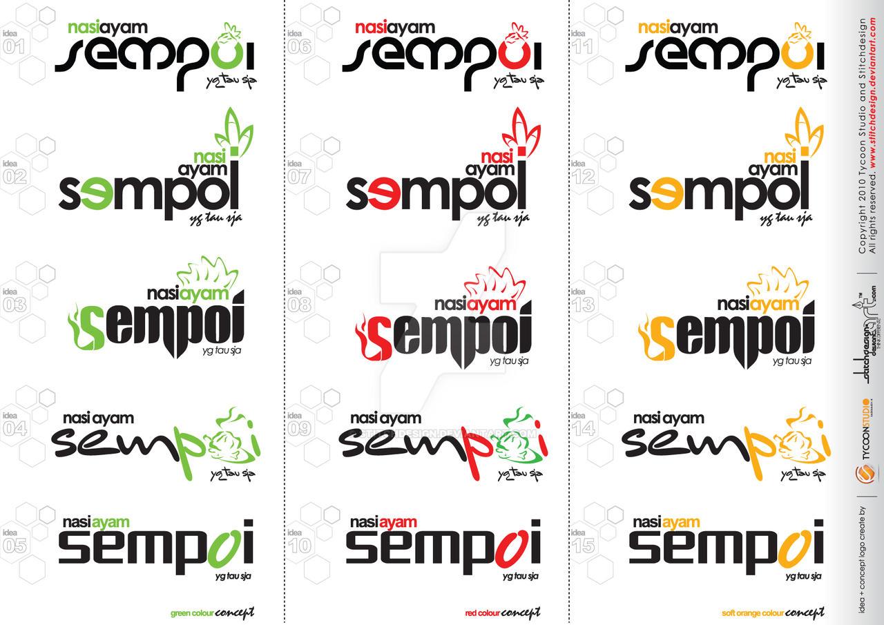 logo nasi ayam sempoi by stitchDESIGN
