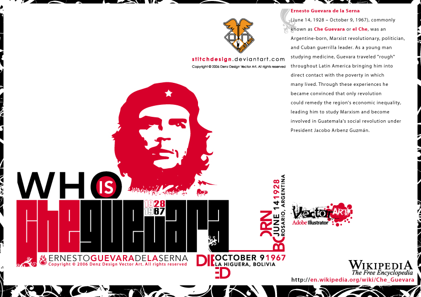 who is Che Guevara by stitchDESIGN