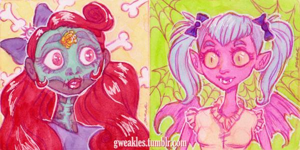 Spoopy Girls by Gweakles