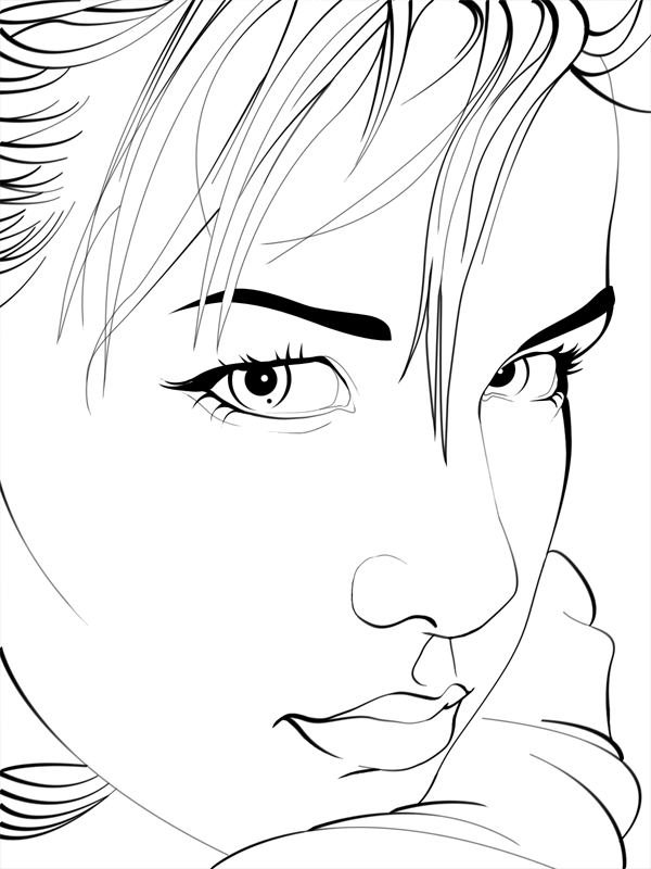 Line Art Pictures : Cyber punk line drawing by konstantinek on deviantart