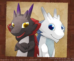 Dragonbros old photo by Bou-Ro