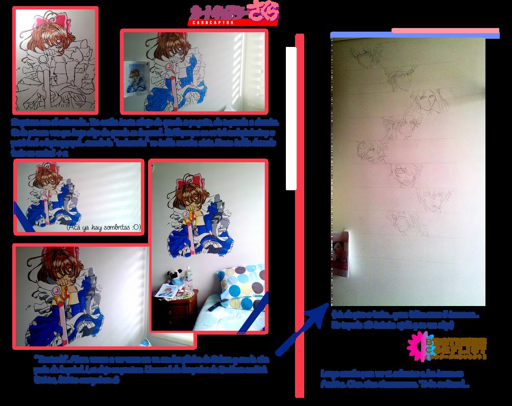 Sakura Card Captor mural by MiyukiUchiha