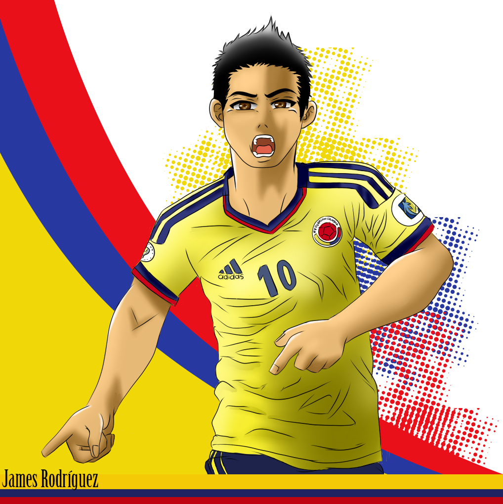 James Rodríguez Dibujo Digital