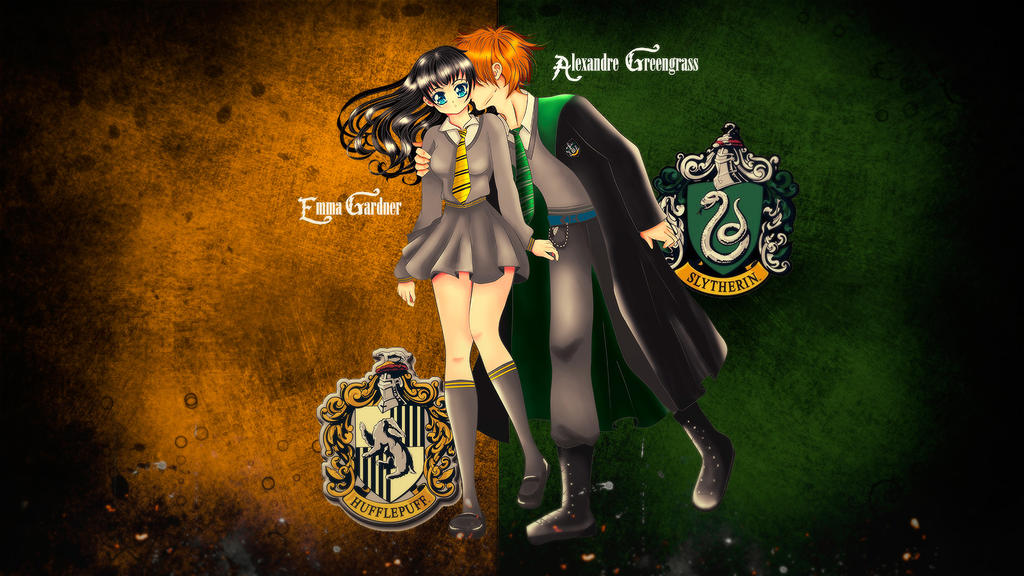 Slytherpuff  (Emma and Alex) by MiyukiUchiha