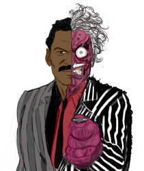 Tim Burton Style Two-Face concept art by Nightmare1398