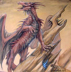 Watercolor Dragon 1
