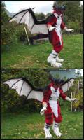 Furry dragon costume