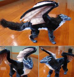 Fluffy dragon doll by zarathus