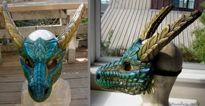 Resin dragon mask by zarathus