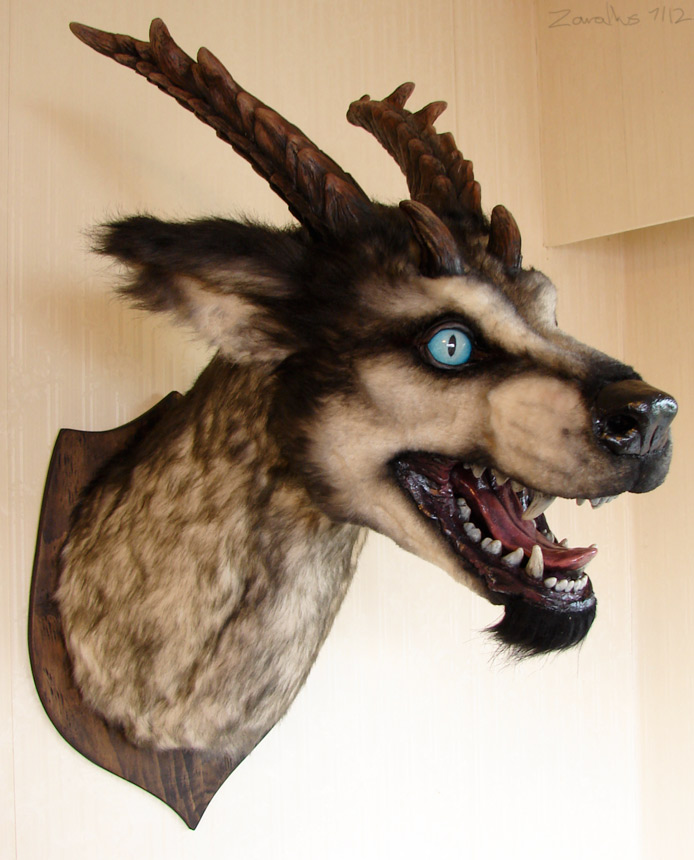 Fake taxidermy beast by zarathus