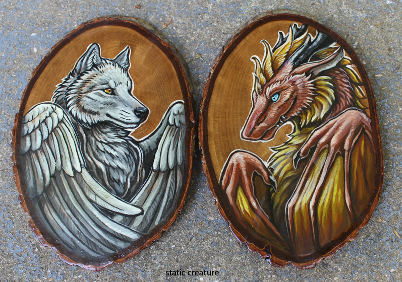 Woodcut bits by zarathus