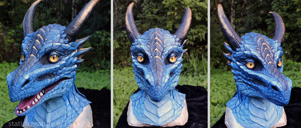 Blue dragon mask by zarathus