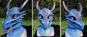 Blue dragon mask by zarathus