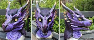 Purple dragon head