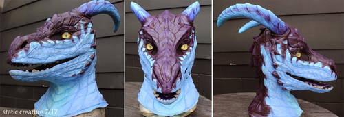 Latex dragon mask by zarathus