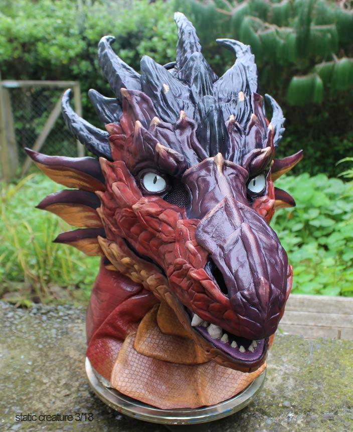 Dragon mask by zarathus