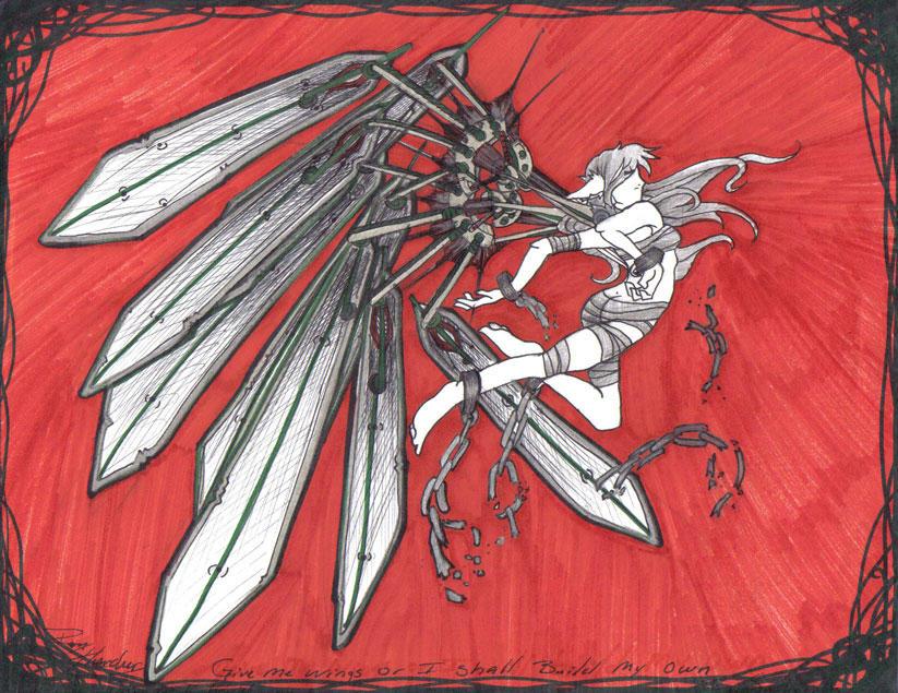 Give Me Wings by firestarterRay