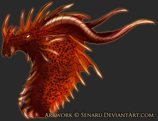Lava Dragon Bust by Senaru