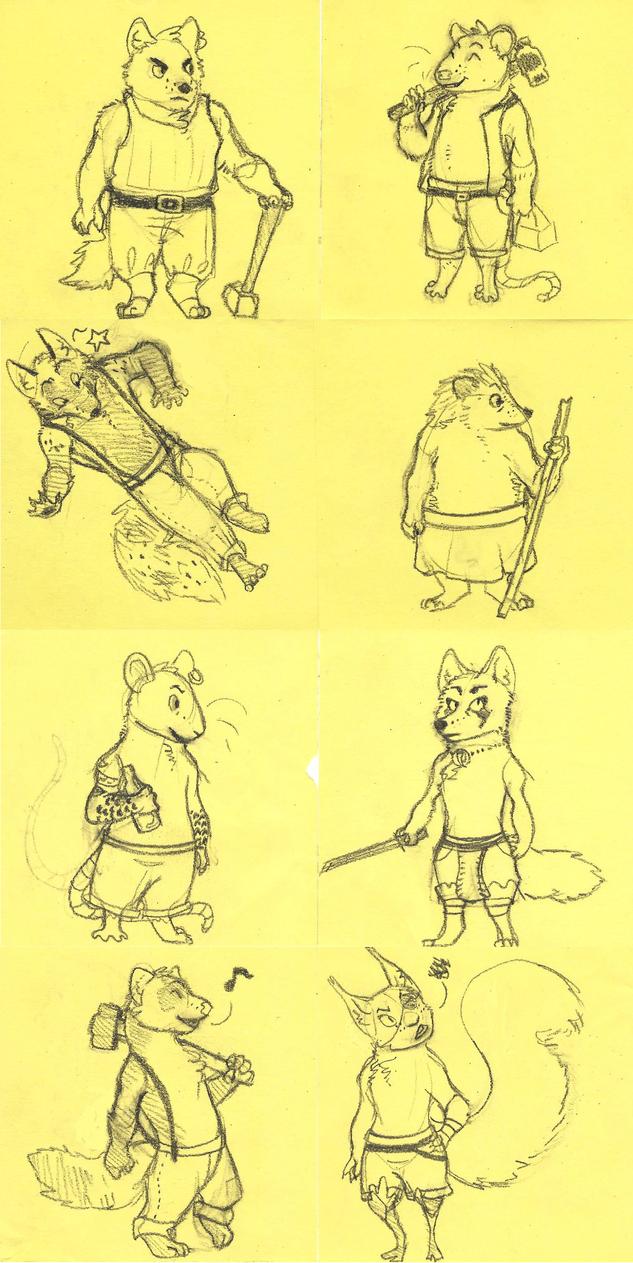 Post-it Doodles by SaraaLuna