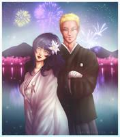 Naruto and Hinata's Wedding by LamiaVerbena