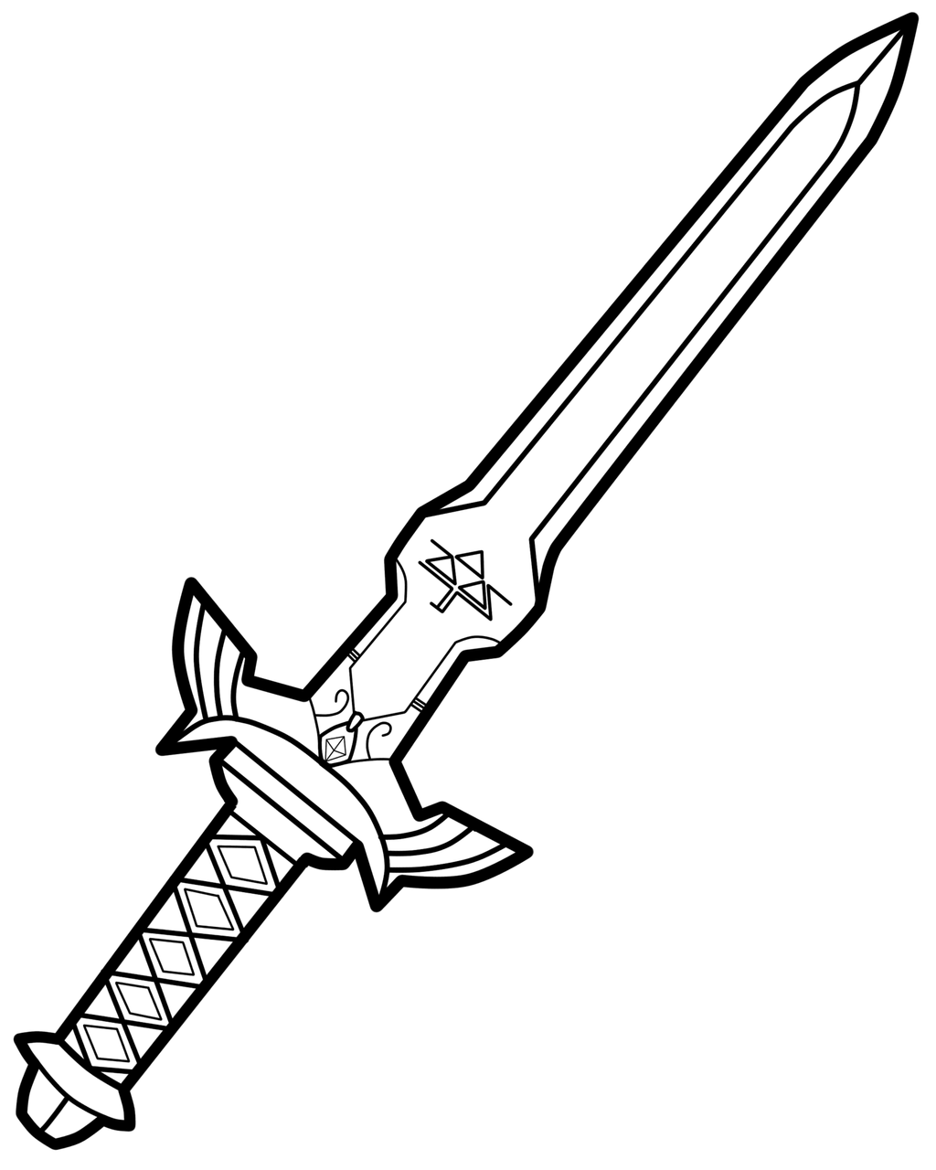 coloring pages with swords | Sword Coloring Pages Weapons Sketch Coloring Page