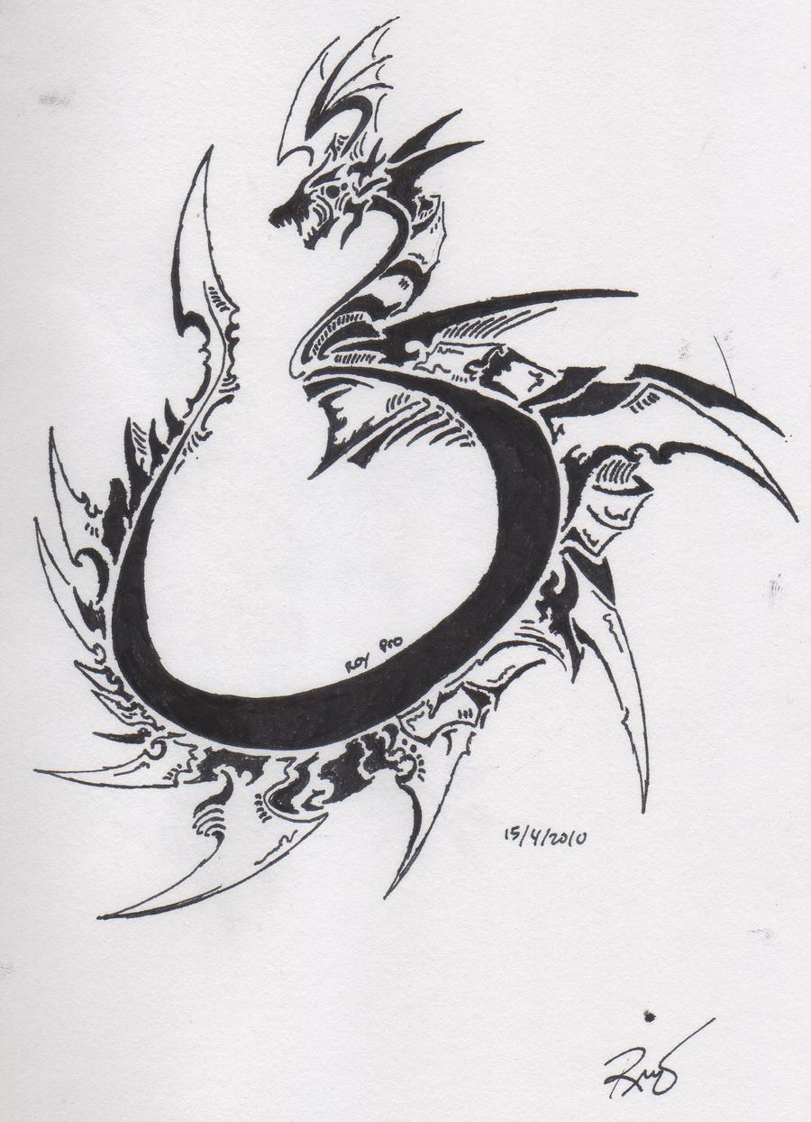Tribal Dragon 7 by RoyCorleone