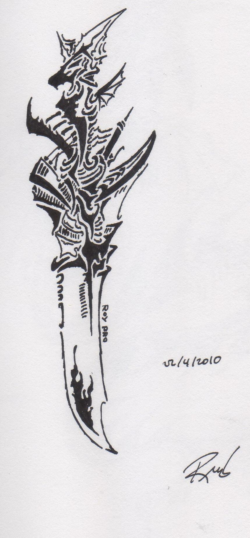 tribal dragon blade by roycorleone on deviantart. Black Bedroom Furniture Sets. Home Design Ideas
