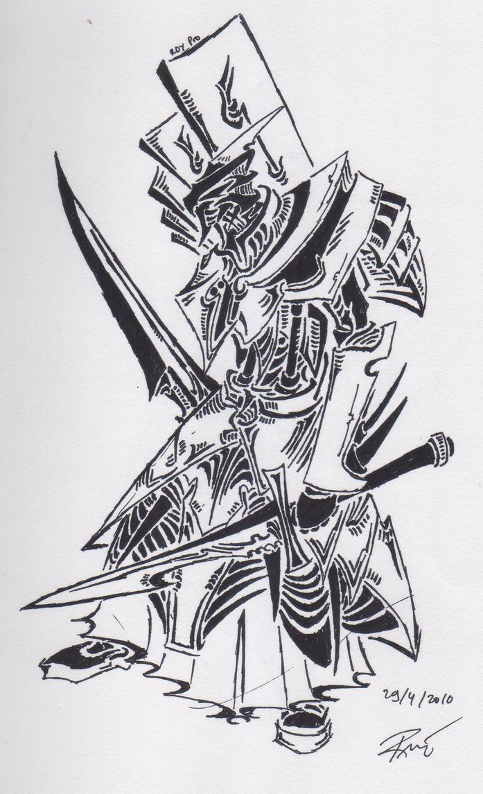 tribal knight 1 by roycorleone on deviantart. Black Bedroom Furniture Sets. Home Design Ideas