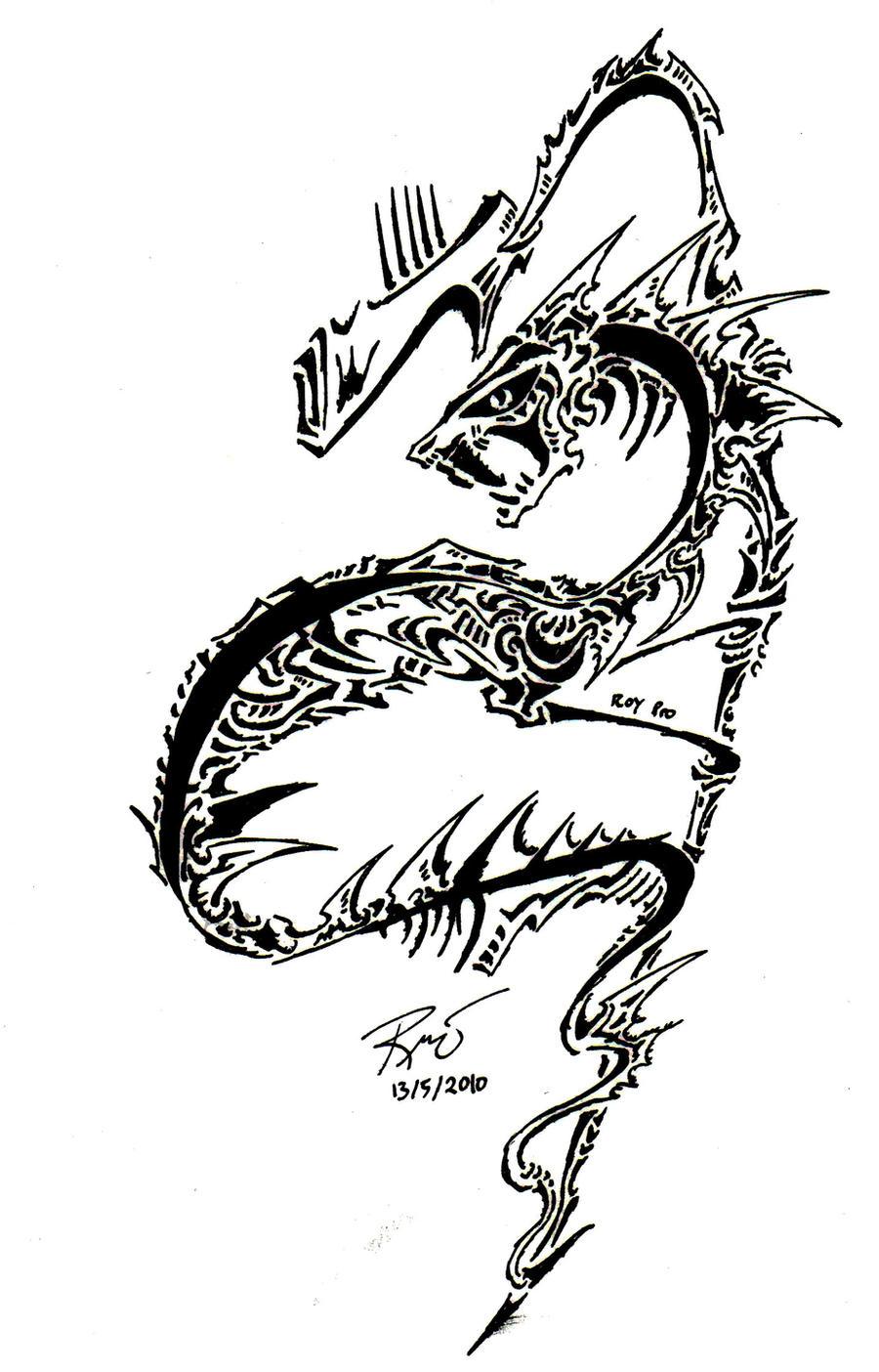 tribal serpent by roycorleone on deviantart