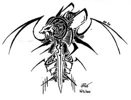Tribal Devil Symbol 4 by RoyCorleone