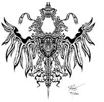 Tribal Double Head Eagle by RoyCorleone