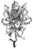 Tribal Headhunter by RoyCorleone