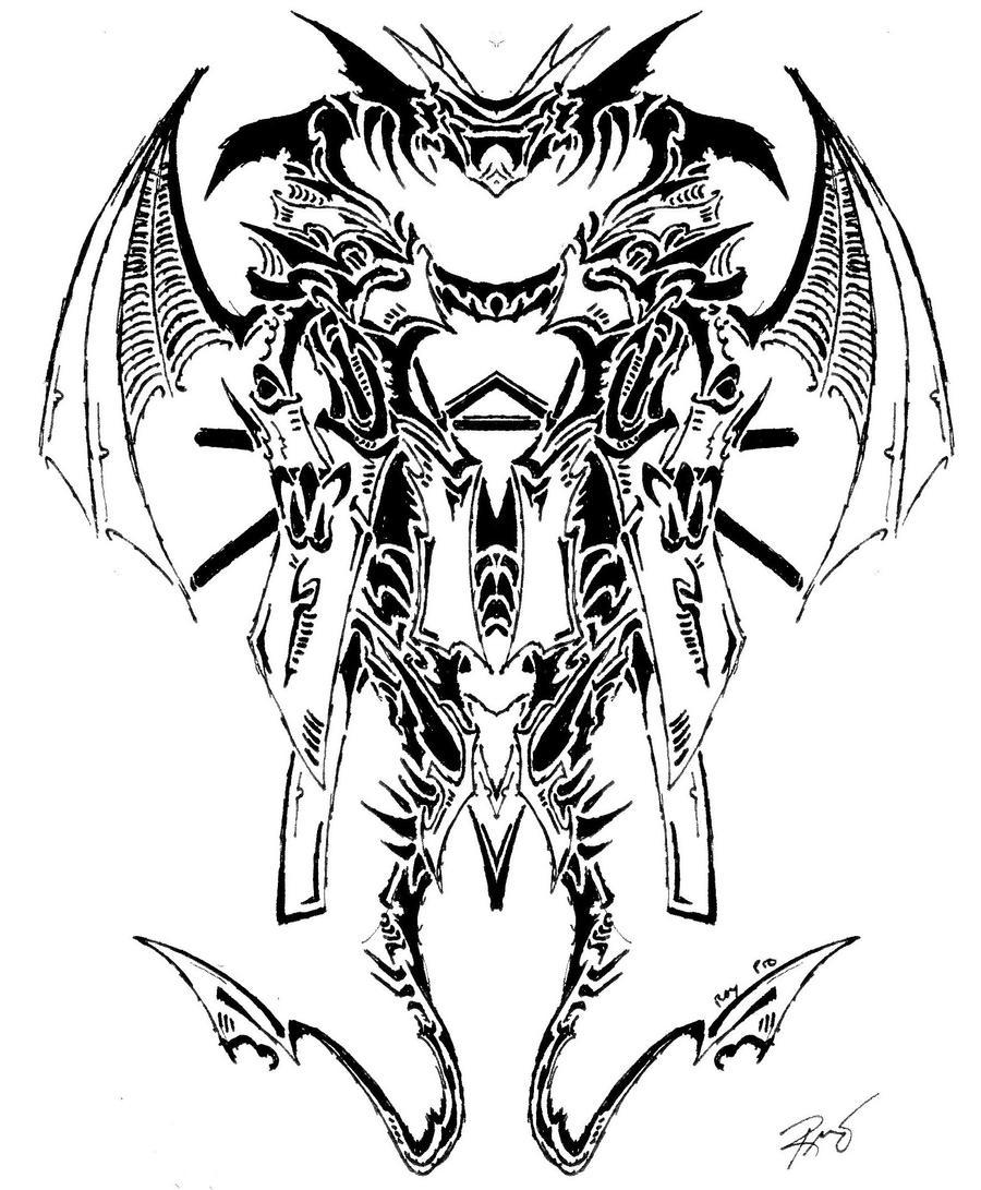 Tribal Dragon Symbol 11 by