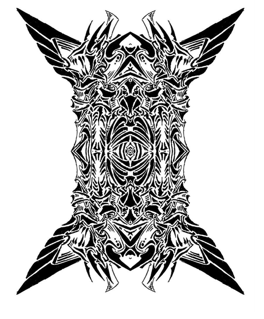 tribal devil symbol 8 by roycorleone on deviantart. Black Bedroom Furniture Sets. Home Design Ideas