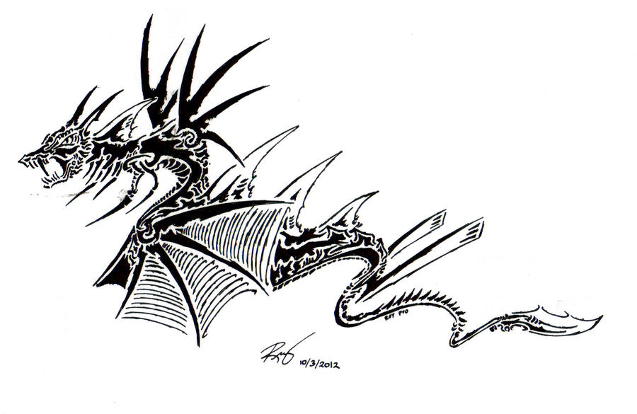 Tribal Dragon 15 by RoyCorleone