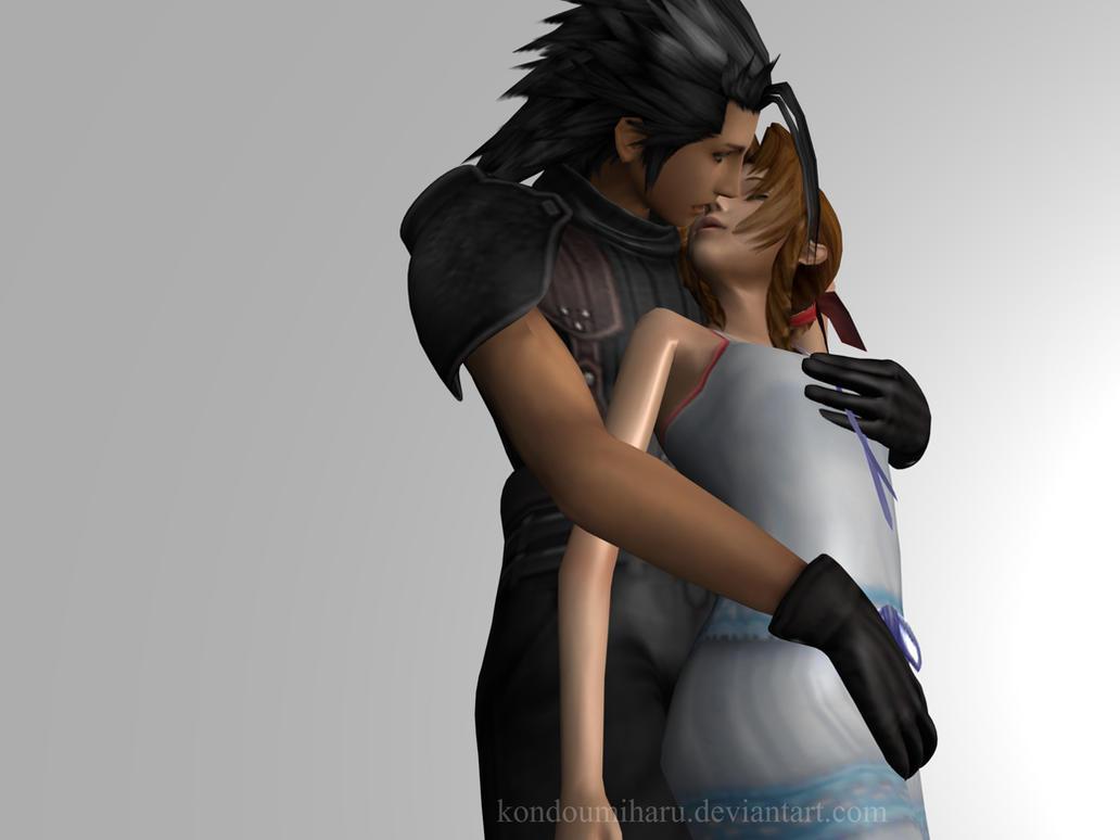 Zack Fair And Aerith Kiss Zack x Aerith First Love
