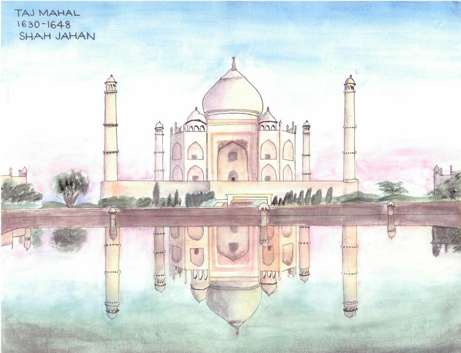 Taj Mahal in Watercolor by AminiAmy on DeviantArt