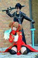 Kirito and Silica by KamiSachiko