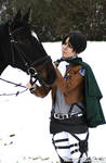 I guess Rivaille likes horses more than people