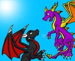 Spyro and Cynder -Myklor-