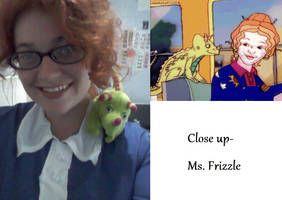 Close up Ms Frizzle