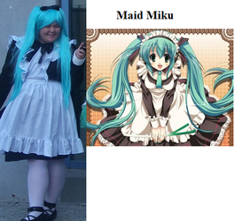 Maid Miku Cosplay Lulu by MoralInsanityCosplay