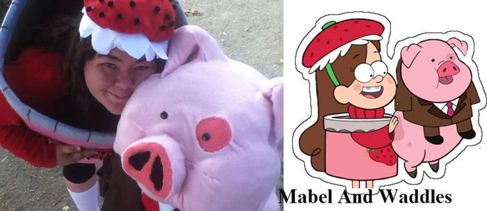 Mabel and Waddles Cosplay Lulu and Azreale
