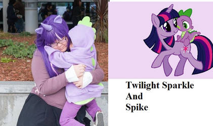 Twilight Sparkle And Spike Cosplay Lulu and Jake