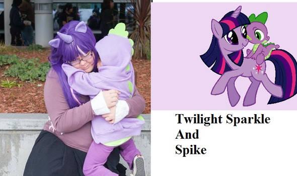 Twilight Sparkle And Spike Cosplay Lulu and Jake