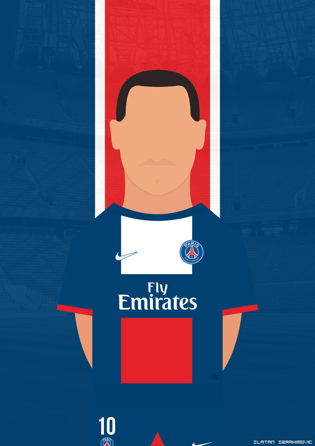 Zlatan Ibrahimovic Psg By Zikdesign On Deviantart