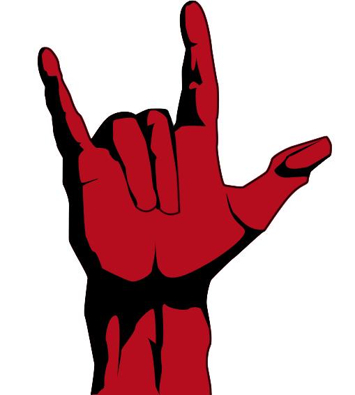 Rock hand vector by Masojiro