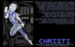 Christi Wallpaper with text by JCServant